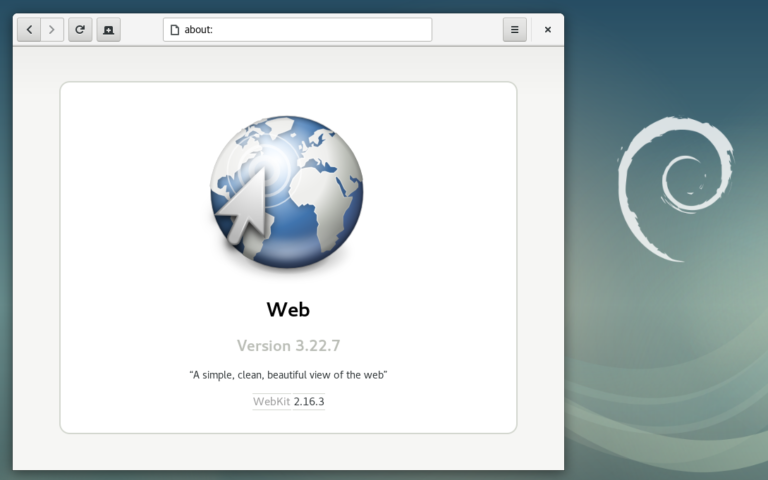 "GNOME Web (Epiphany) in Debian 9 ""Stretch"""